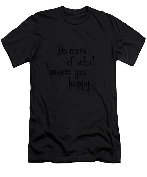 Text Art Happy Men's T-Shirt (Athletic Fit)