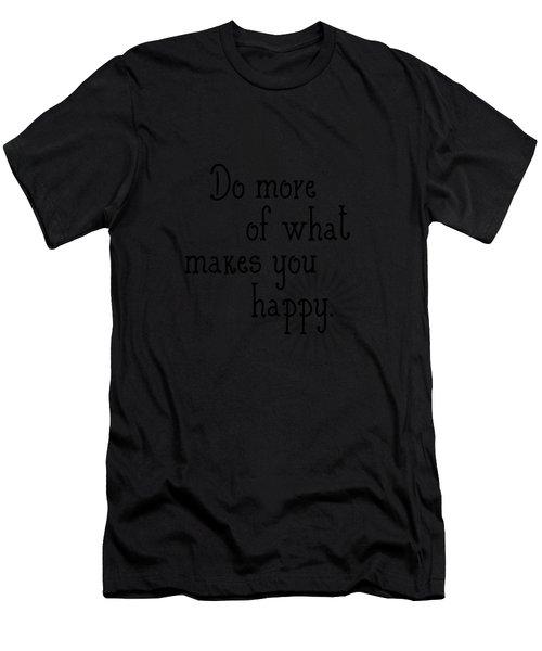 Text Art Happy Men's T-Shirt (Athletic Fit)