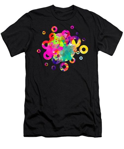 Happy Rings - Tee Shirt Design Men's T-Shirt (Athletic Fit)