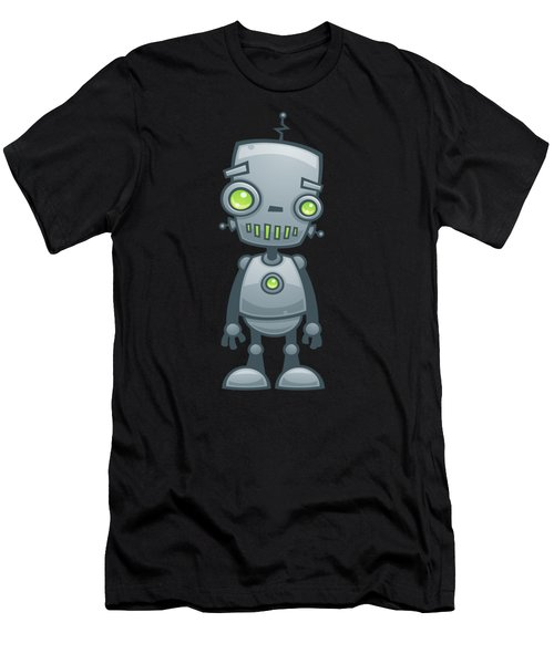 Happy Robot Men's T-Shirt (Athletic Fit)