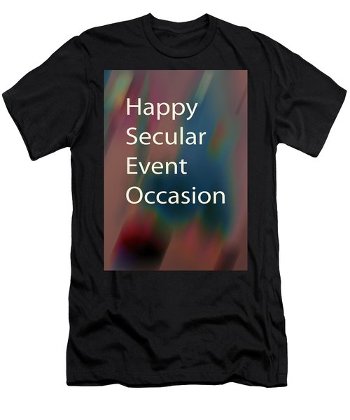 Happy Secular Event Occasion 2017 Men's T-Shirt (Athletic Fit)