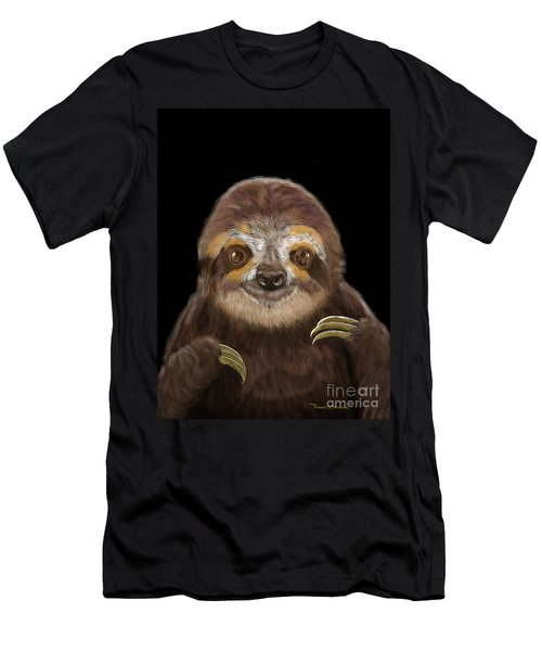Happy Three Toe Sloth Men's T-Shirt (Athletic Fit)