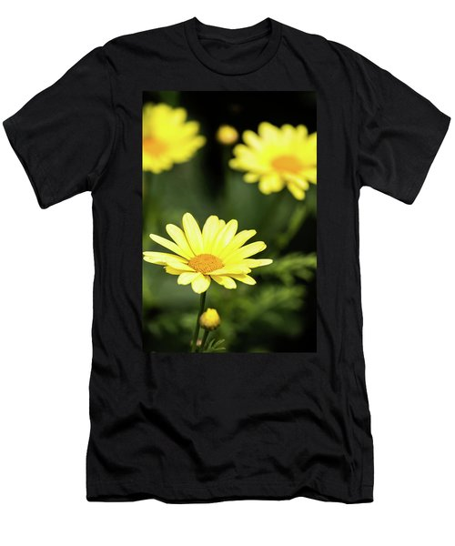 Happy Summer Flowers Men's T-Shirt (Athletic Fit)