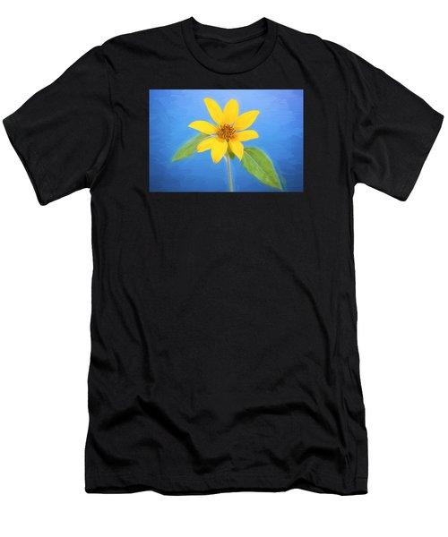 Happy Sunflowers Helianthus Painted  Men's T-Shirt (Athletic Fit)