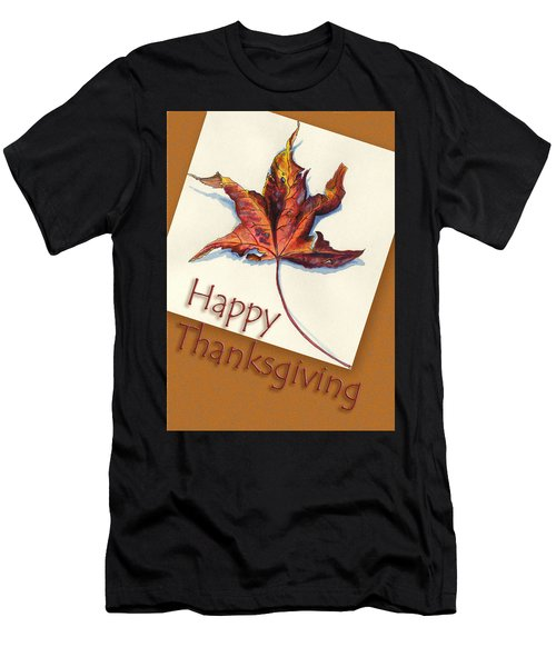 Happy Thansgiving Men's T-Shirt (Athletic Fit)
