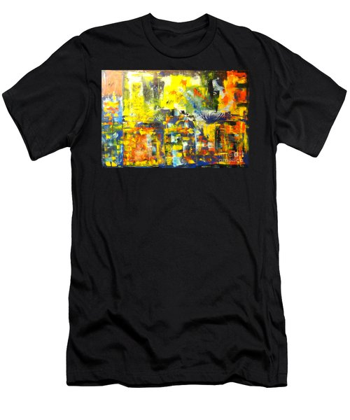 Happyness And Freedom Men's T-Shirt (Athletic Fit)