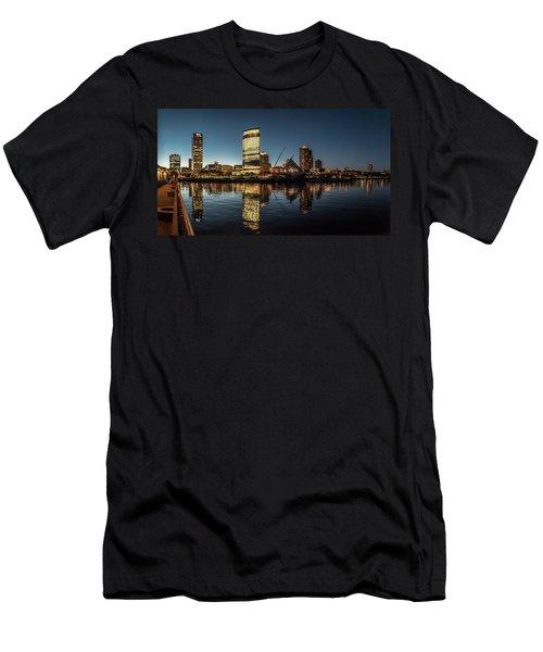 Men's T-Shirt (Slim Fit) featuring the photograph Harbor House View by Randy Scherkenbach