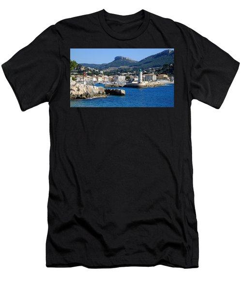 Harbor Of Cassis Men's T-Shirt (Athletic Fit)