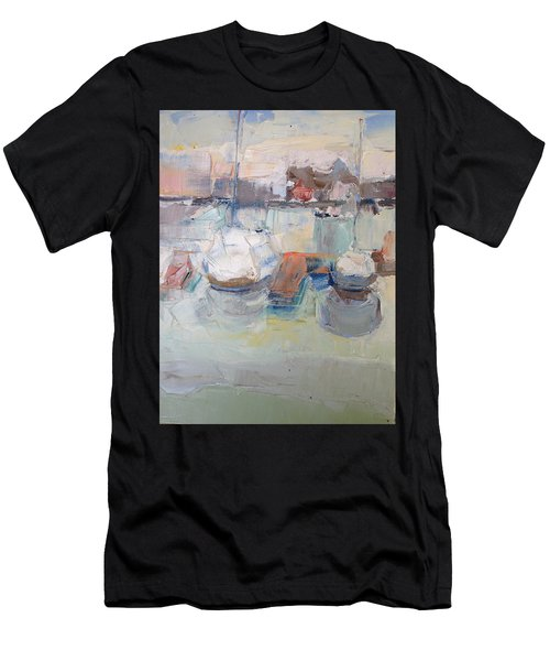 Harbor Sailboats Men's T-Shirt (Athletic Fit)