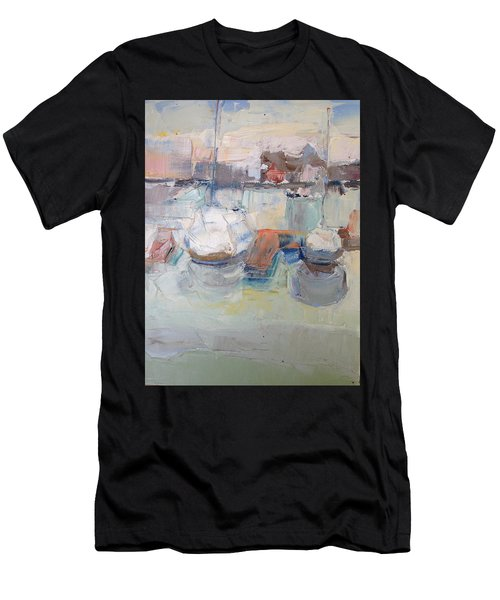 Harbor Sailboats Men's T-Shirt (Athletic Fit)
