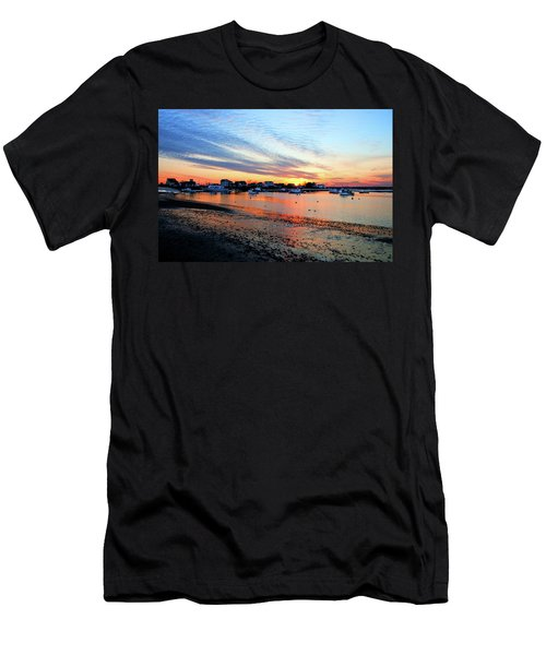 Harbor Sunset At Low Tide Men's T-Shirt (Athletic Fit)