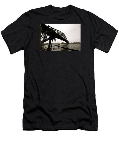 Harbour Bridge Men's T-Shirt (Slim Fit) by Mark Nowoslawski