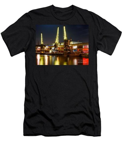 Harbour Cranes Men's T-Shirt (Athletic Fit)