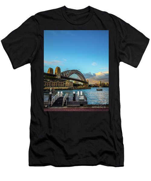 Men's T-Shirt (Slim Fit) featuring the photograph Harbour Sky by Perry Webster
