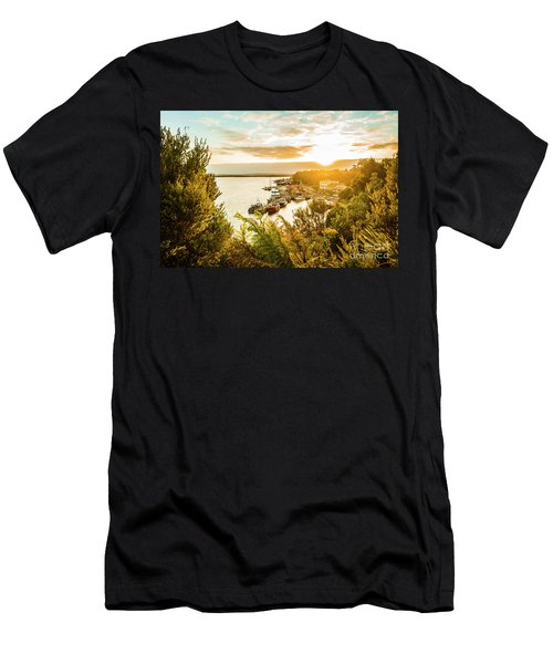 Harbouring A Colourful Vista Men's T-Shirt (Athletic Fit)