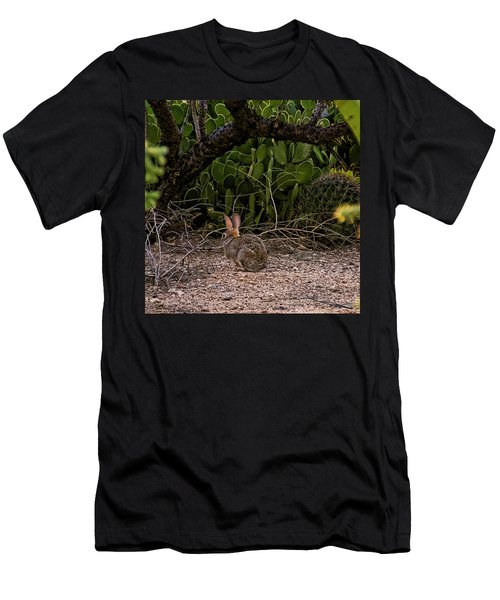 Men's T-Shirt (Athletic Fit) featuring the photograph Hare Habitat H22 by Mark Myhaver