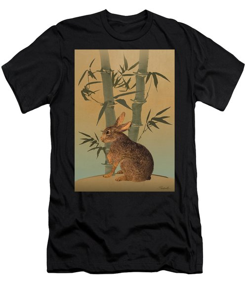 Hare Under Bamboo Tree Men's T-Shirt (Athletic Fit)