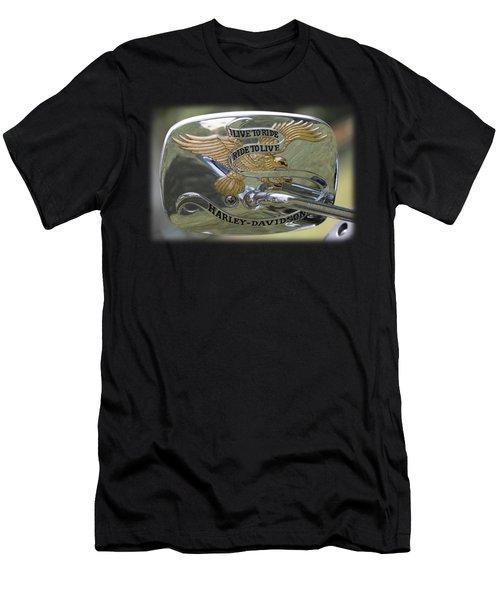 Harley Live To Ride Emblem Men's T-Shirt (Athletic Fit)