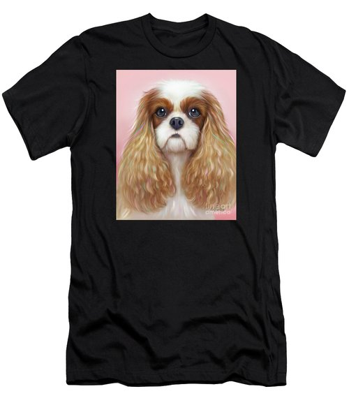 Men's T-Shirt (Athletic Fit) featuring the painting Harper Cavalier by Catia Lee
