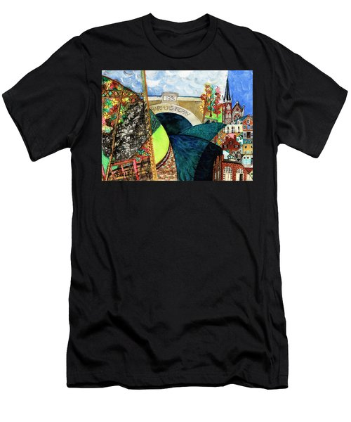 Harpers Ferry Rivers, Railroads, Revolvers Men's T-Shirt (Athletic Fit)
