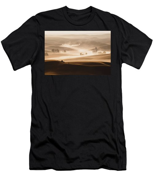 Men's T-Shirt (Slim Fit) featuring the photograph Harvest Dust by Chris McKenna
