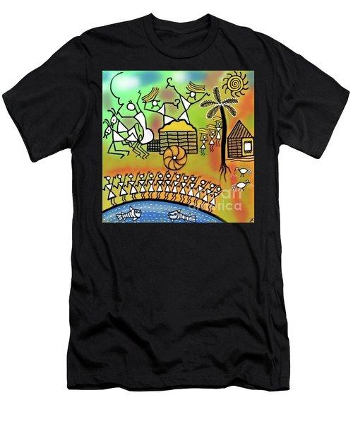 Harvest Men's T-Shirt (Slim Fit) by Latha Gokuldas Panicker