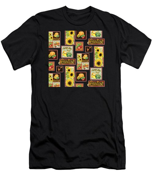 Harvest Market Pumpkins Sunflowers N Red Wagon Men's T-Shirt (Athletic Fit)