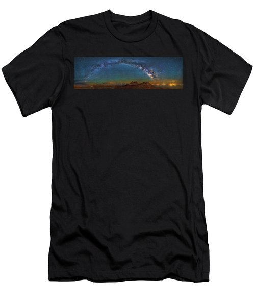 Hat Rock Milky Way Men's T-Shirt (Athletic Fit)