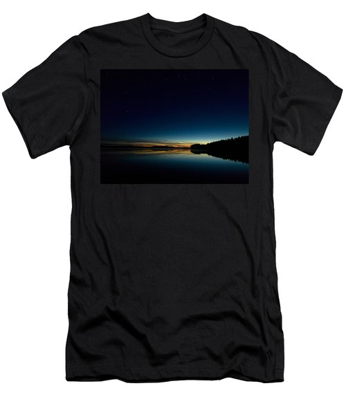 Men's T-Shirt (Slim Fit) featuring the photograph Haukkajarvi By Night With Ursa Major 1 by Jouko Lehto
