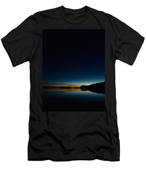 Men's T-Shirt (Slim Fit) featuring the photograph Haukkajarvi By Night With Ursa Major 2 by Jouko Lehto