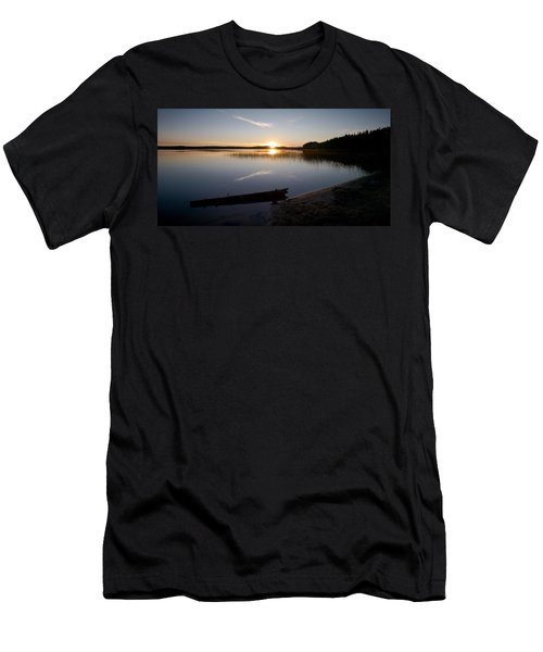 Men's T-Shirt (Slim Fit) featuring the photograph Haukkajarvi Evening by Jouko Lehto