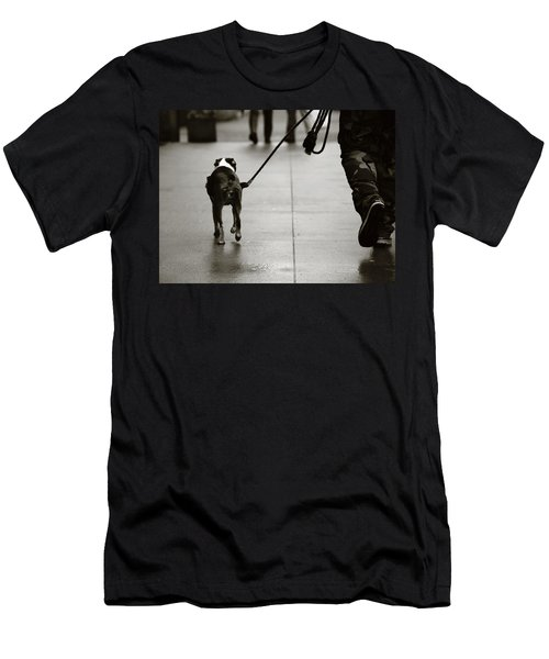 Men's T-Shirt (Slim Fit) featuring the photograph Hauling Ass by Empty Wall