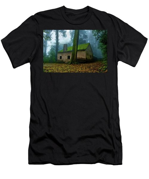 Haunted House Men's T-Shirt (Slim Fit) by Jorge Maia