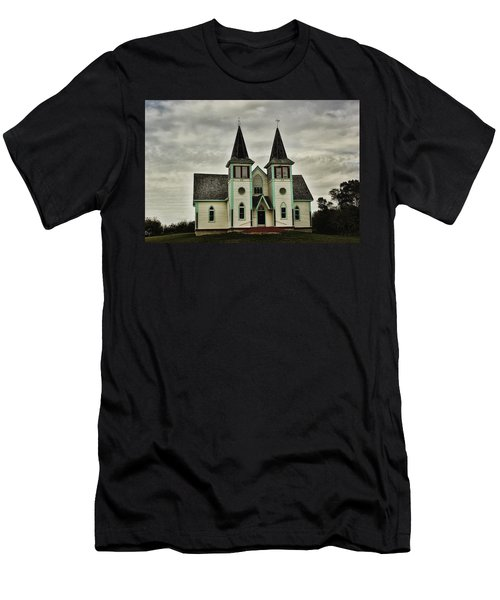 Men's T-Shirt (Slim Fit) featuring the photograph Haunted Kipling Church by Ryan Crouse