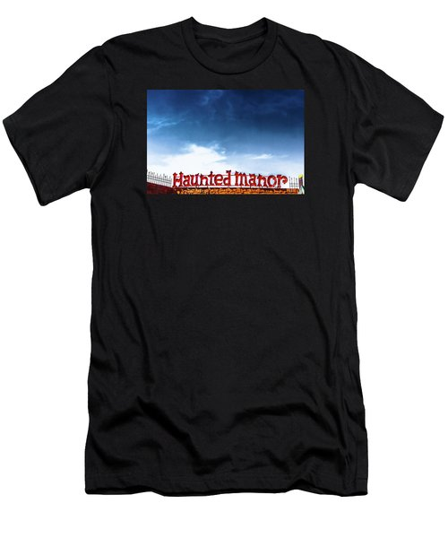 Men's T-Shirt (Slim Fit) featuring the photograph Haunted Manor  by Colleen Kammerer