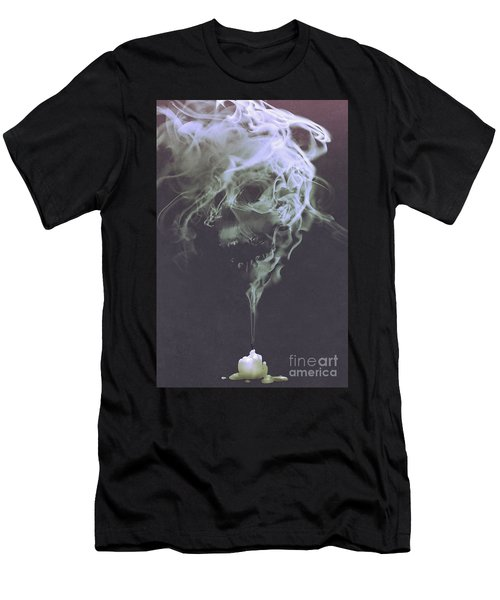 Haunted Smoke  Men's T-Shirt (Athletic Fit)