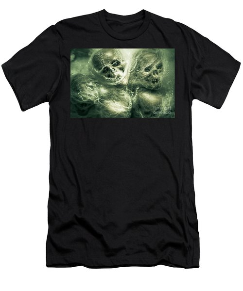 Haunted Undead Skeleton Heads Men's T-Shirt (Athletic Fit)