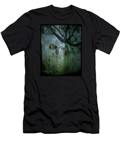 Men's T-Shirt (Athletic Fit) featuring the digital art Haunting by Delight Worthyn