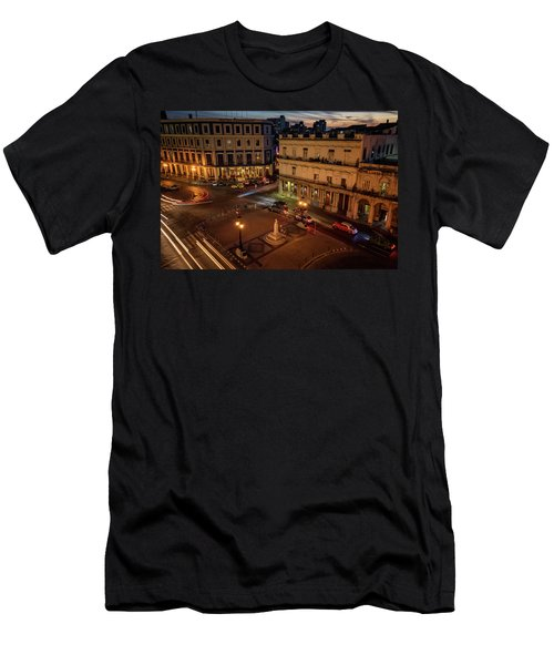 Men's T-Shirt (Slim Fit) featuring the photograph Havana Nights by Joan Carroll