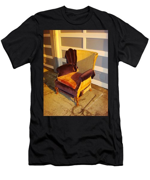 Men's T-Shirt (Athletic Fit) featuring the photograph Have A Seat In Dore Alley by Mr Photojimsf