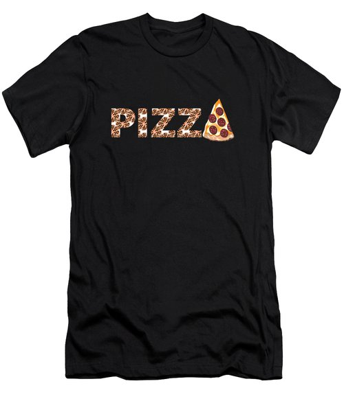 Have A Slice - Pizza Typography Men's T-Shirt (Athletic Fit)