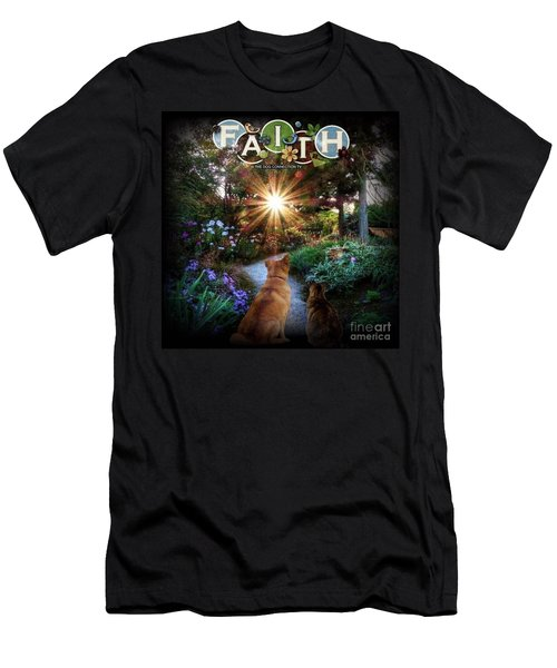 Men's T-Shirt (Athletic Fit) featuring the digital art Have Faith by Kathy Tarochione
