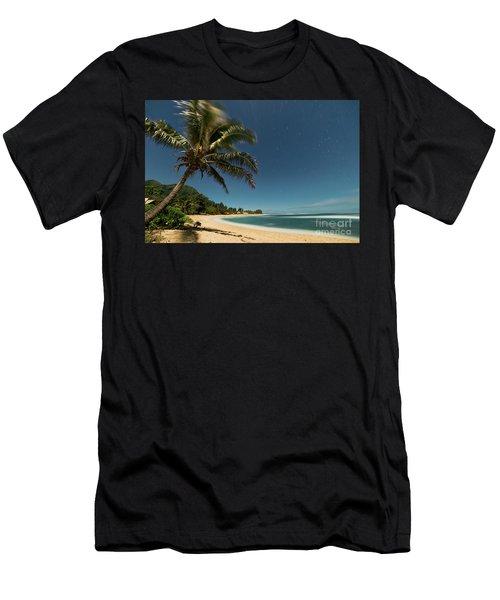Hawaii Moonlit Beach Wainiha Kauai Hawaii Men's T-Shirt (Athletic Fit)