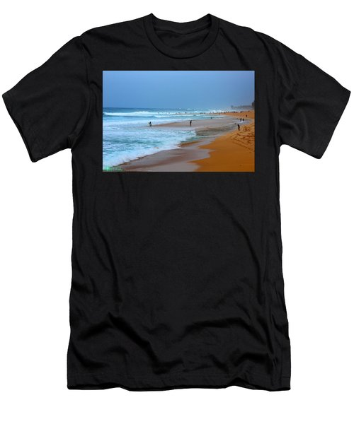 Hawaii - Sunset Beach Men's T-Shirt (Athletic Fit)