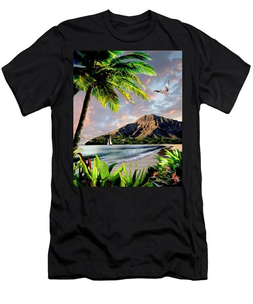 Hawaii Sunset Men's T-Shirt (Slim Fit) by Ron Chambers