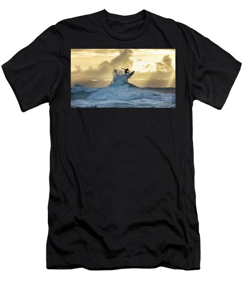 Hawaii Surfing Sunset Polihali Beach Kauai Men's T-Shirt (Athletic Fit)