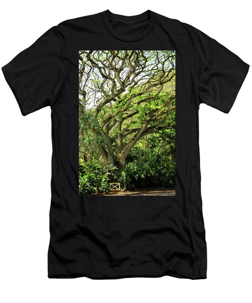 Hawaii Tree-bard Men's T-Shirt (Slim Fit) by Denise Moore