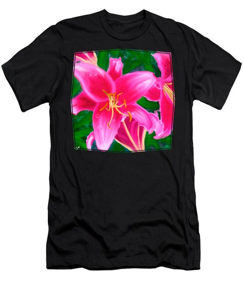 Hawaiian Flowers Men's T-Shirt (Athletic Fit)