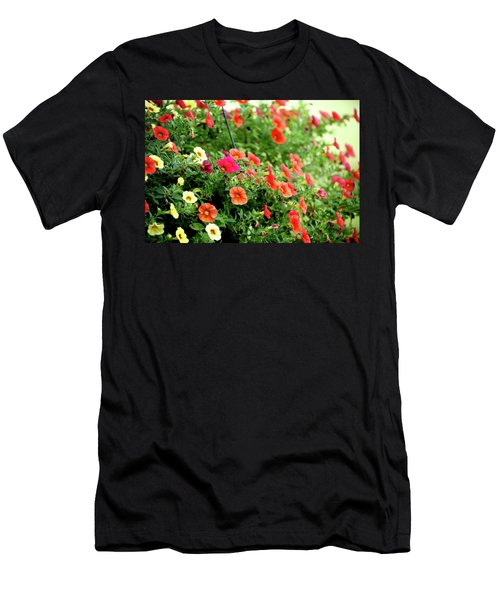 Men's T-Shirt (Athletic Fit) featuring the photograph Hawaiian Hula Lilies 308 by Ericamaxine Price