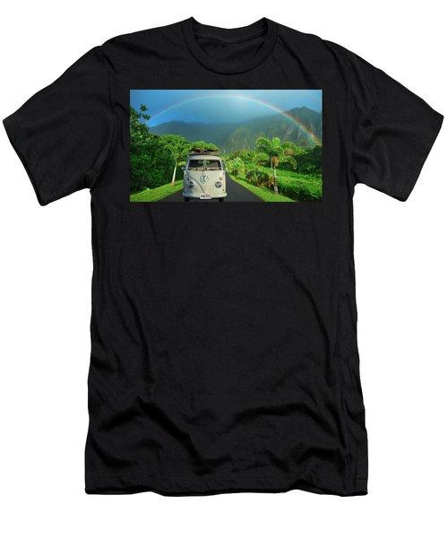 Hawaiian Kom-bow Men's T-Shirt (Athletic Fit)